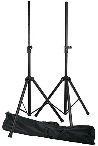 E-Lektron SPST-2 Boxenständer Paar inkl. Tragetasche Lautsprecherständer für Lautsprecher Boxen mit 35mm Standerflansch Hochständer Stativ