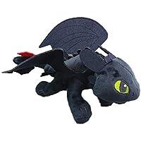 1pc Cómo entrenar a tu dragón desdentado furia de la noche juguete de felpa muñeca suave embroma el regalo del dragón de peluche con ojos suaves bordados ...