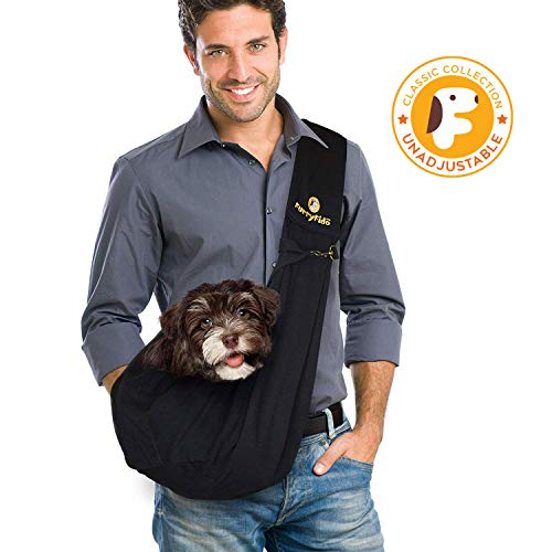 FurryFido Reversible Pet Sling Carrier - For Cats Dogs Up To 13+ lbs - Premium Quality Safe And Comfortable Shoulder Bag - Bring Your Pet Along In The Best Pet Travel Accessories by FurryFido