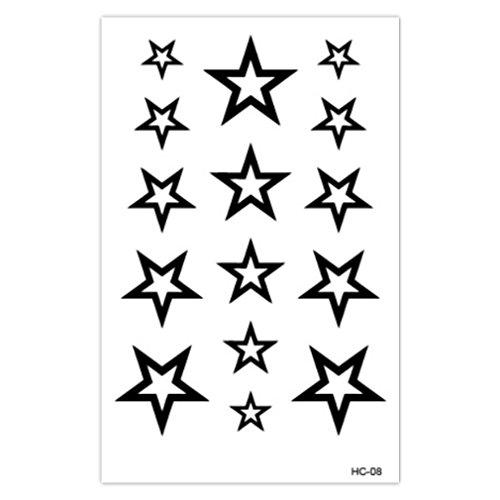 n temporär - Sterne / Stars - Schwarz - 10,5 x 6,5 cm ()