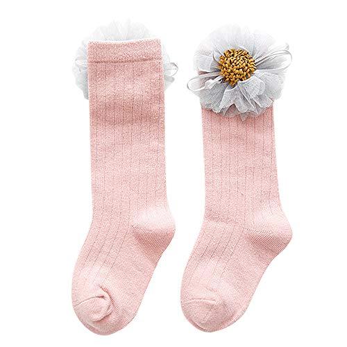 Quaan Süßigkeiten Kinder Kleinkind Baby Mädchen Blumen Anti-Rutsch Gestrickt Warm Lange Socken Knie Socken Karikatur Halloween Sportsocken Strumpf Socken Niedlich Festival Weich gemütlich Stricken