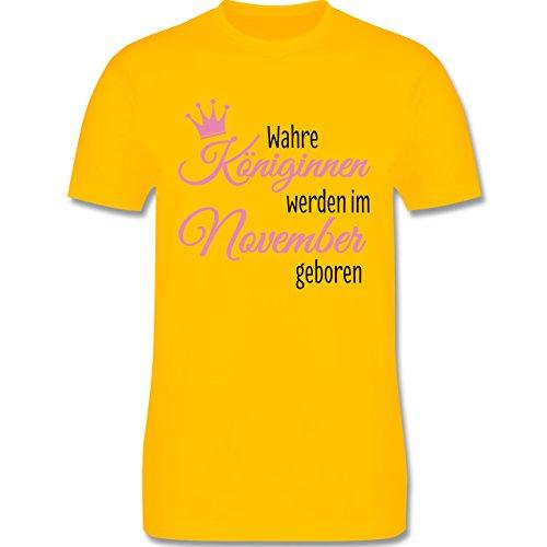 Geburtstag - Wahre Königinnen werden im November geboren - Herren Premium T-Shirt Gelb