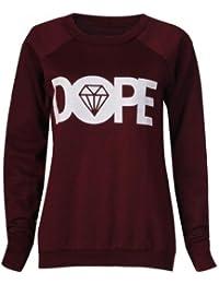 Frauen dopen Pullover (womens dope sweater) (40/42 (ml), wein - wine)