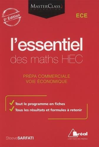 L'essentiel des maths HEC : Voie économique