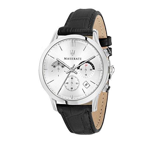 MASERATI Reloj Cronógrafo para Hombre de Cuarzo con Correa en Cuero R8871633001