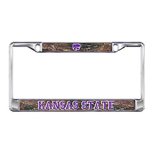Fhdang Decor Kansas State Plate Rahmen Aluminium Kennzeichenrahmen Abdeckungen, Nummernschild-Halter Auto Zubehör New Car Gift 15,2 x 30,5 cm -