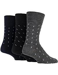 Gentle Grip - 3 pares calcetines hombre lana finos sin elastico para circulacion 39-45