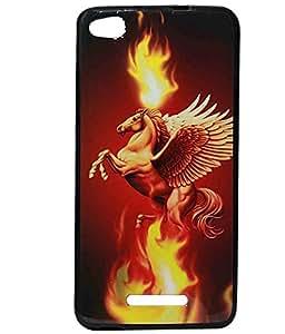Dark Unicorn Exclusive Rubberised Back Case Cover For Gionee CTRL V6L