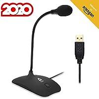 KLIM™ Talk - Micrófono USB para PC y Mac + Amplia compatibilidad y fácil de Usar + con botón de Silencio + Micrófono de grabación Profesional de Alta definición - Nueva VERSIÓN 2020 - Negro
