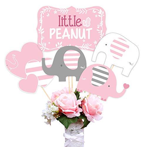 r Elephant Dekoration Lieferungen für Mädchen Elephant Center Table Toppers für Geburtstagsfeier Little Peanut Sticks Kit für Kinder ()