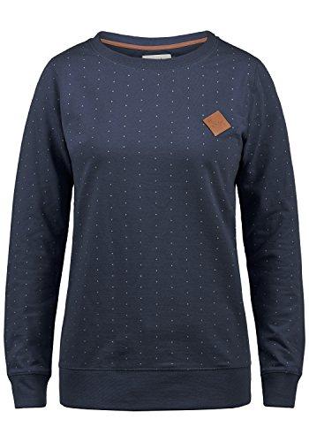 BlendShe Polly Damen Sweatshirt Pullover Sweater Mit Rundhalsausschnitt, Größe:S, Farbe:Mood Indigo (20064)