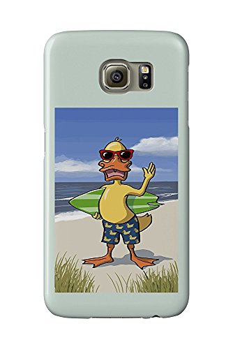 Duck on Beach (Galaxy S6 Cell Phone Case, Slim Barely There)