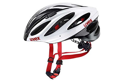 Uvex Boss Race Fahrradhelm, white-black, 55-60 cm