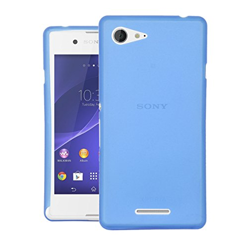 CUBIX® Sony E3 Dual Case, Hard (Semi Transparent) Super Slim Matte Back Cover For Sony Xperia E3 Dual (Blue)  available at amazon for Rs.350