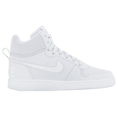 Nike Unisex-Erwachsene Wmns Court Borough Mid Basketballschuhe Weiß (White/white/white) OjY0t6J