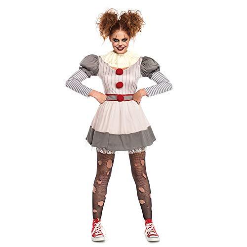 MSSJ Umorden Stephen Kings Es Clown Pennywise Cosplay Kostüm für Frauen Teen Girls Halloween Karneval Karneval Party Kleid XL (Night Zombie Teen Kostüm)