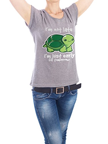 design-t-shirt-frauen-earth-positive-not-late-in-grau-grosse-m-stylisches-shirt-typografie-tiere-von