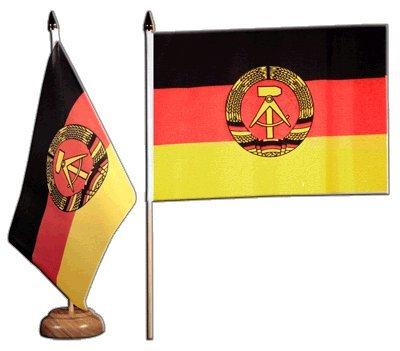 Flaggenfritze Tischflagge Tischfahne Deutschland DDR - 15 x 22 cm