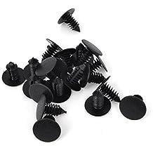 Remaches Plásticos Coche Negro Agujero 8 mm Parachoques Sujetador De Puerta Agarres 20 unidades