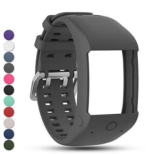 Feskio Zubehörteil Ersatz weichen Silikon Gummi Uhrenarmband Handgelenk Sport Strap RS Hülle für Polar Unisex M600 Sportuhr Smartwatch