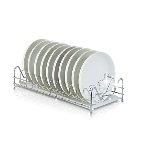 &étagère de rangement Bol de cuisine étagère 304 en acier inoxydable cuve à une seule cuvette étagère de drainage cadre de plaque baguettes air mettre étagère 43,5 * 20 * 10 Rack de finition