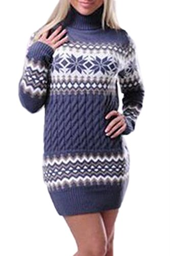 Schneeflocke Twist Pullover Aus Pullover Top Purple XL (Schneeflocken-pullover)