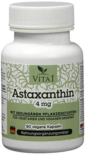 Antioxidative Orac-wert (Vita 1 Astaxanthin 4 mg 90 Kapseln (3 Monate Vorrat) Glutenfrei, vegan, koscher & halal, 36 g)