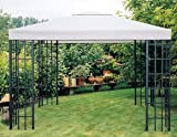 Universal Ersatzdach Metallpavillon 2,9x2,9 grau extra schwere Qualität 230 g/m2