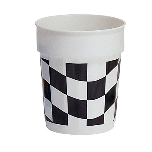 Creative Converting 110546316 Printed Plastic Cup Becher plastik schwarz/weiß