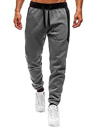 Pantalones Deportivos para Hombres Ligeros Largos Elásticos Pantalones de Chándal  para Gimnasio Deportes Correr Jogging Entrenamiento 5d5e223b0a69b