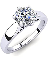 Silvernshine 0.25Ct Round Sim Diamond 14K White Gold Over Women's Solitaire Engagement Ring