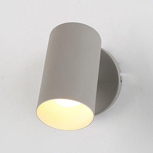 SEESUNG Moderne Bügeleisen Kunst Wandleuchte Korridor Light Einfache Wohnzimmer Schlafzimmer Wand Lampe Nachttischlampe Gehweg Lampe Inneneinrichtung Wandleuchte,Sand Grau