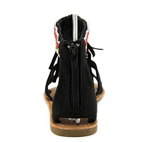 Coolway Menade Femmes Cuir Sandales Gladiateur Black
