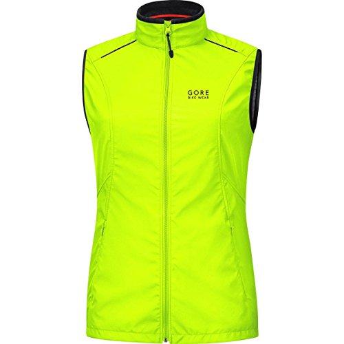 GORE WEAR Damen Weste Element Windstopper Active Shell Vest, neon gelb, 44