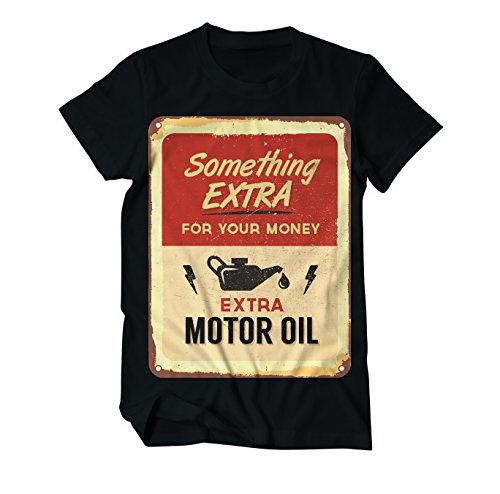Biker Shirt Extra Motor Oil Vintage - Fun - T-Shirt Herren Schwarz