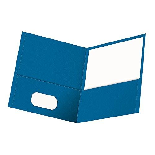 Oxford Twin Tasche Ordner, Brief Größe, 25pro Box 1 Packung hellblau -