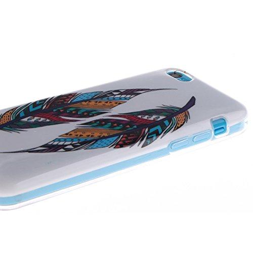 ZeWoo TPU Schutzhülle - TX012 / Eine mathematische Formel - für Apple iPhone 5C Silikon Hülle Case Cover TX004 / Zwei Mehrfarbenfeder