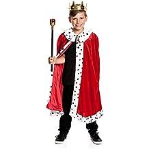Kostümplanet® König-Kostüm Kinder Königskostüm Kaiser Umhang Mantel Größe 116 140 164