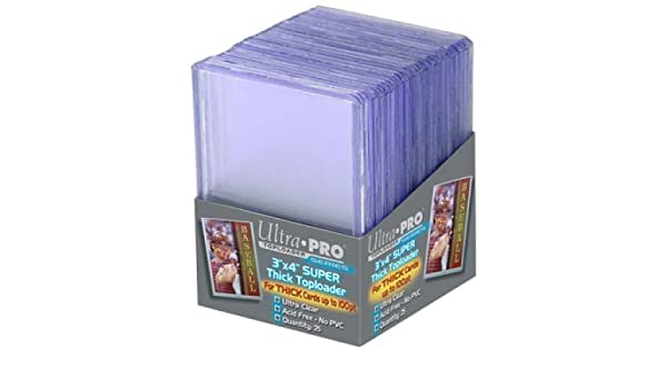 Ultra pro premium toploader soft sleeves ultra clear
