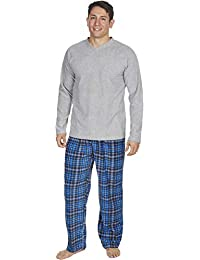 MICHAEL PAUL Mens Soft   Cosy Fleece Pyjamas PJ Set Nightwear Sleepwear  4a752fc9c