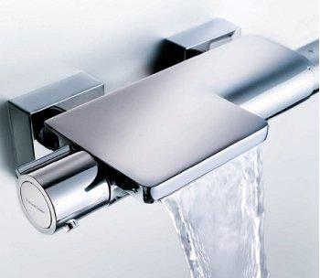 Ramon Soler 226536 Termostático de Baño-Ducha con inversor Integrado en Mando caudal en Acabado Cromado, Arola