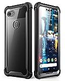 i-Blason Coque Google Pixel 3 XL, Coque Intégrale Anti-Choc Bumper avec Dos Transparent et Protecteur d'écran Intégré [Série Ares] pour Google Pixel 3 XL 2018 (Noir)