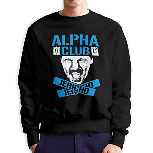 SASJOD Männer Hoodies Jericho Alpha Club Men's Adult Crew Neck Sweatshirt Fashion Long Sleeve Pullover -