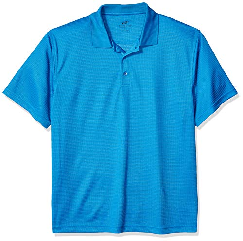 Unbekannt Clementine Herren ULTC-8305-Cool & Dry Elite Mini-Check Jacquard Polo Poloshirt, Pacific Blue, Klein -