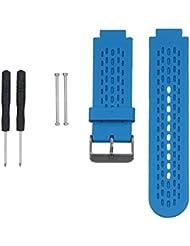 WEINISITE Soft Silicone Bracelet Remplacement Bande de Montre Cosses pour Garmin Approach S2/S4 GPS Golf Watch / Garmin vívoactive montre (#1, Unique taille)