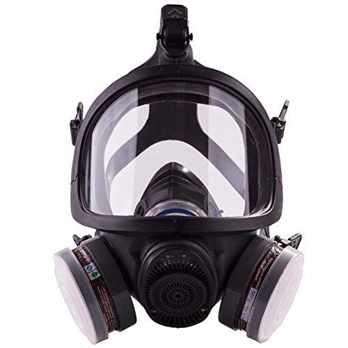 ACLBB Vollgesichtsatemschutzgasmaske, Professionelles Organisches Dampfatemgerät Für Farbe, Staub, Chemikalie, Pestizidschutz