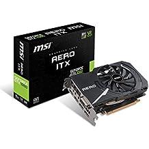 MSI Nvidia GeForce GTX 1060 AERO ITX 6G OC 6 GB GDDR5 192 Bit Memory DP/DVI/HDMI PCIe 3 Graphics Card - Black