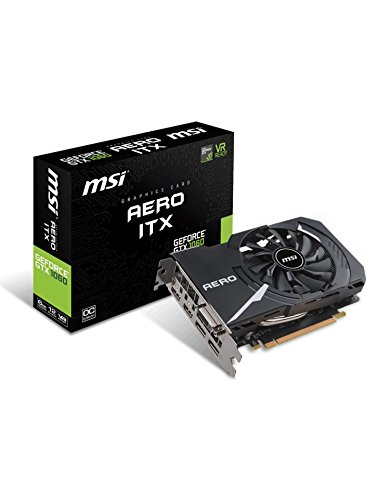 MSI GeForce GTX 1060 Aero OC 6GB Nvidia GDDR5 2x HDMI, 2x DP, 1x DL-DVI-D, Mini PC, Afterburner OC, VR Ready, 4K-optimiert, Grafikkarte