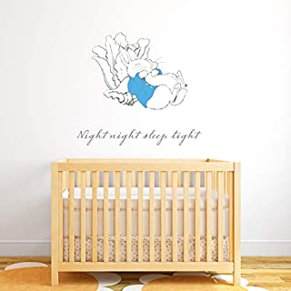 Beautiful Game Official Peter Rabbit Night Night Sleep Tight Wall Sticker Mural PB021 (90cm Width x 82.5cm Height)