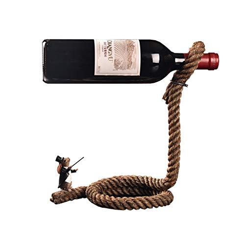 Europäische einfache Weinregal Wein Kabinett Handwerk Ornamente Magier Seil Weinflasche Regal -